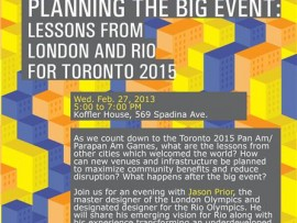 planning the big event: lessons from london and rio for toronto