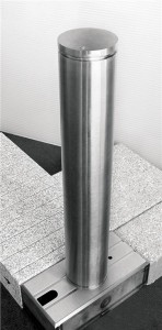 Removable bollards are installed when the street is open to vehicular traffic.