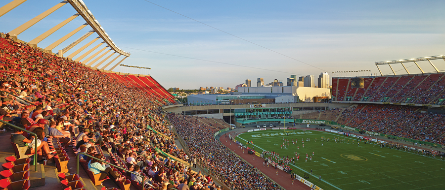 A view of the stadium.