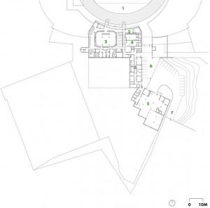 Level 1 (field level)   1 stadium field   2 Eskimo locker room   3 media/player lounge   4 visitor locker   5 stadium operations   6 stadium service access   7 ramp