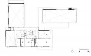 Second Floor    1 youth room   2 computer room   3 craft room   4 meeting room   5 board room   6 preschool room   7 restrooms