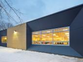 Bortolotto Design Architect's dynamic faade for Willow Park Junior Public School. Shai Gil