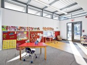Interior of Workshop Architecture's new kindergarten classroom for the Princess Elizabeth Public School. Scott Norsworthy