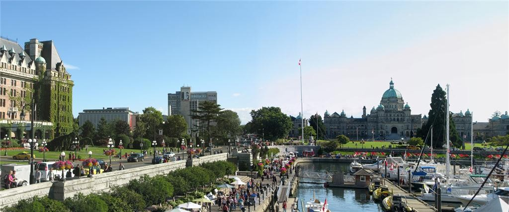 harbour view of downtown victoria