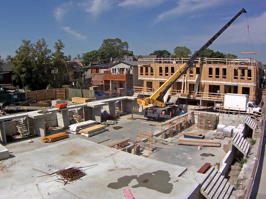 Typical panelized construction site.
