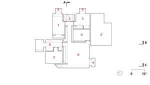 Basement Floor   1 guest room  2 bathroom  3 guest room  4 ballet room  5 hockey room  6 playroom  7 utility room  8 laundry room  9 light well