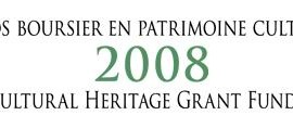 2008 cultural heritage grant fund