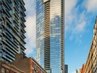 View of the Shangri-La Hotel and Residences on University Avenue in Toronto, completed in joint venture with  James K.M. Cheng Architects Inc. Tom Arban
