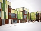 BGBX is a 24-unit housing development featuring a hidden courtyard. 5468796 Architecture