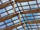 Skylight truss chords made from mountain pine beetle-killed lumber. Silent Sama