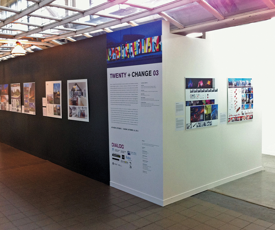 A view of the Twenty + Change 03 exhibition at the Harbourfront Centre.