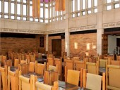 Ron Thom's furnishings grace the dining room. ERA architects