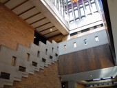 Modernist motifs are evident in the stair. ERA architects