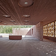 islamic cemetery in austria by bernardo bader architects in dombirn, austria