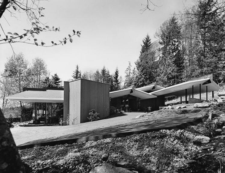 forrest residence by thompson berwick & pratt architects, ron thom and dick mann, designers, 1963. photo by selwyn pullan, 1964.