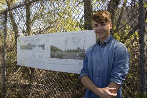 green line competition A winner gabriel wulf with his design proposal.