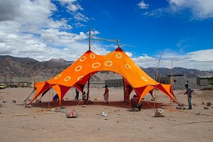 peace tent at the druk white lotus school in northern india by BaSiC Initiative.