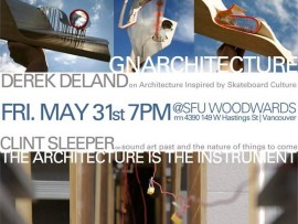 gnarchitecture/the architecture is the instrument: derek deland and clint sleeper