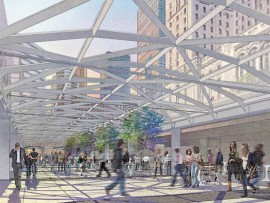 In NORR's refurbished Union Station in Toronto, an existing exterior open-air moat will be covered with a fully glazed canopy providing enhanced pedestrian circulation. NORR