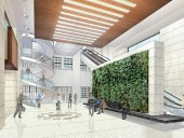 A rendering of NORR's design for the renovated Wellington Building lobby.