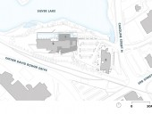 Site Plan  1 Stephen Hawking Centre  2 existing  3 Canadian Clay & Glass Gallery