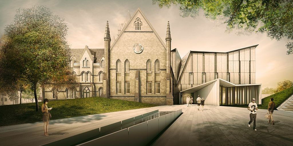 rendering of the proposed new home of the john h. daniels faculty of architecture, landscape and design at the university of toronto