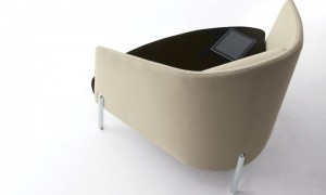 teknion's fractals seating series - lounge chair