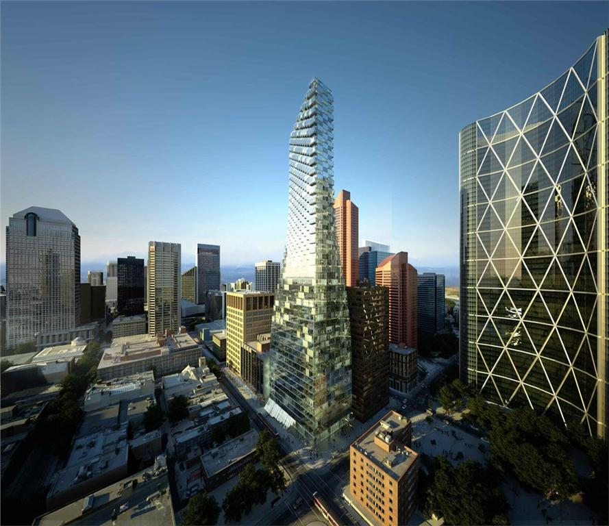 rendering of proposed TELUS sky in calgary