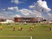 The architecturally polished Nike Football Training Centre is a world-class athletic facility and community hub for an underprivileged area of Johannesburg.