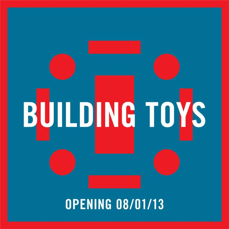 building toys at the RAW gallery in winnipeg