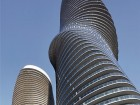 Dynamic forms emerge as each tower rotates between two and eight degrees from floor to floor. Tom Arban