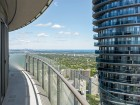 Continuous balconies ringing the towers provide wide viewing angles for residents and promote a sense of community within each floor.