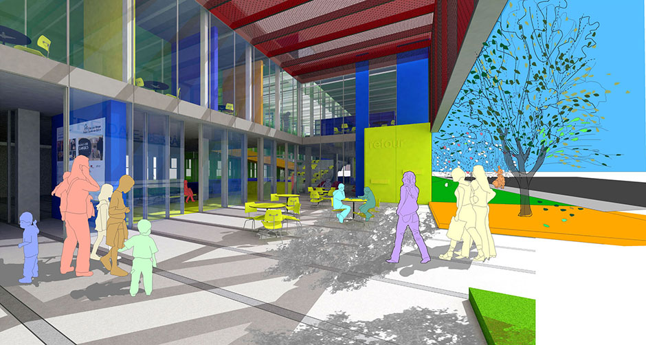 2012 canadian architect award of excellence winner: cultural centre for notre-dame-de-grce by atelier big city, fichten soiferman et associs architectes, and L'OEUF.