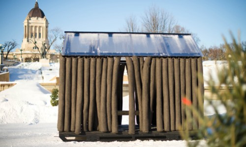 woolhaus, one of the huts from the 2013 edition of warming huts