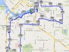 architectural bicycle tour route map