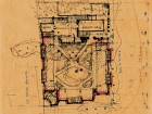 A preliminary sketch for Massey College. Canadian Architectural Archives, University of Calgary