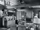The living room of the 1951 Copp House. John Flanders