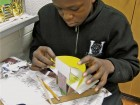 A Dr. Marion Hillard Senior Public School student builds a model. No. 9