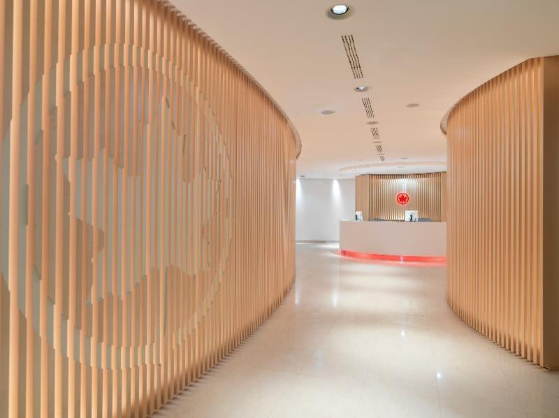 air canada's new maple leaf lounge in frankfurt
