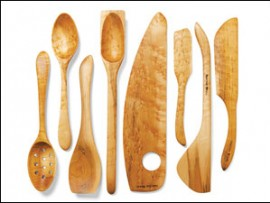 handcrafted wooden utensils by artisan marcel dionne