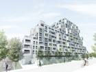 Teeple Architects' dynamic design for the Block 11 market condominiums in Alexandra Park. Teeple Architects