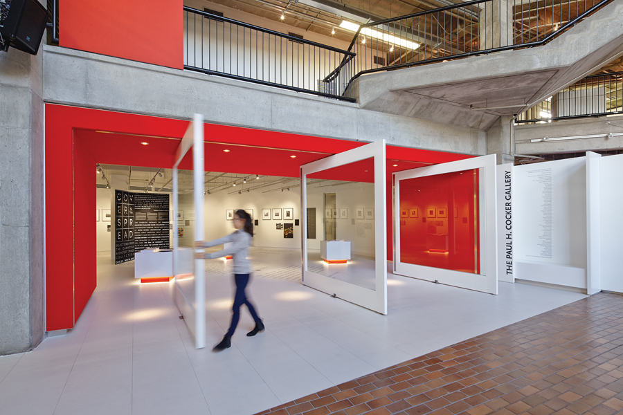 The creation of a new gallery space for Ryerson University's Department of Architectural Science involved reconfiguring the lobby and adjacent studios.
