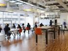 quadrangle office eating area