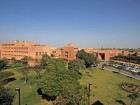 The Aga Khan University's central campus in Karachi, Pakistan includes a medical college and teaching hospital.