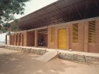 One of two images showing the Gando Primary School in Burkina Faso, awarded an Aga Khan Award for Architecture in 2004. The school is the result of one man--Dibdo Francis Kr--who designed it, fundraised, and mobilized villagers for construction. AKAA/Simeeon Duchoud