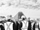 His Highness the Aga Khan and Prince Amyn Aga Khan visit the Wynford Drive construction site in Toronto. Salina Kassam
