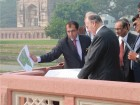 His Highness the Aga Khan reviews plans for the Humayun's Tomb renewal project. Ram Rahman