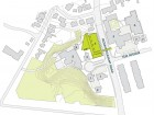 Site Plan 1 student residence 2 Junior School 3 principal's residence 4 Athletics and Wellness Centre 5 Senior School 6 Middle School 7 administration 8 potting shed--ravine dining 9 coach house
