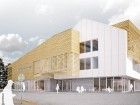 Facing Mattonabee Avenue, the Wellness Centre incorporates a fitness centre, medical offices and residential units.