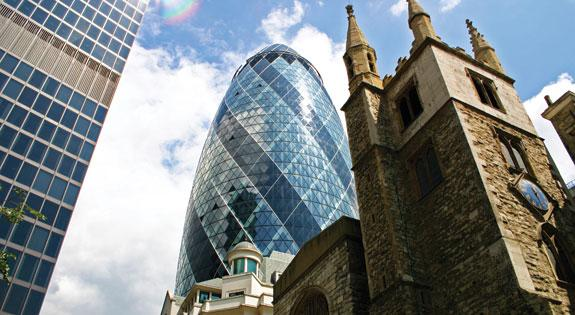 "the ""gherkin"" in london"